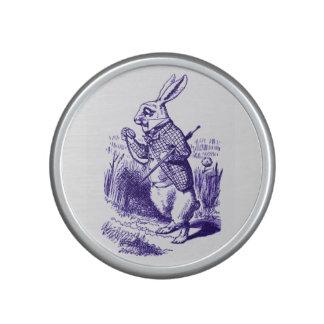 Alice in Wonderland White Rabbit Purple Bluetooth Speaker