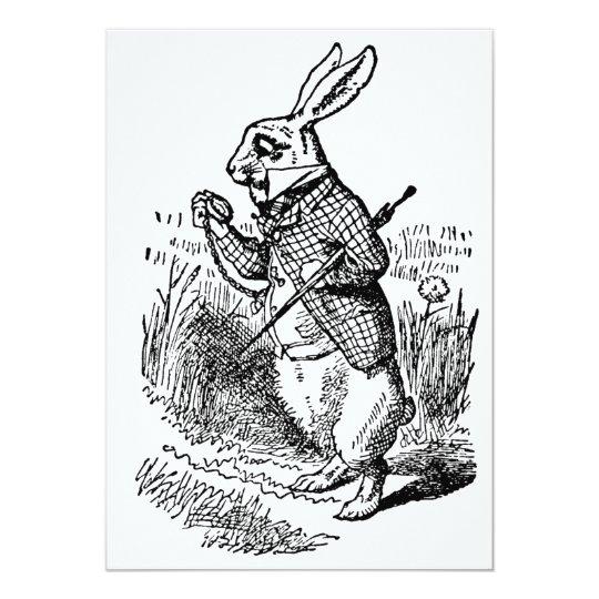 Alice in Wonderland White Rabbit Watch Invitation