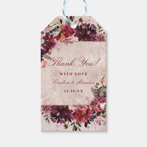 Alice in Wonderland White Rabbit Wedding Thank You Gift Tags