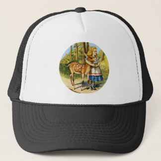 Alice in Wonderland with a Young Deer Trucker Hat