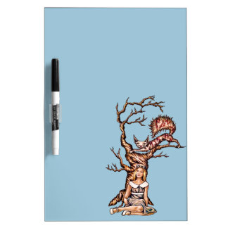 Alice in Wonderland with Cheshire Cat Drawing Dry Erase Board