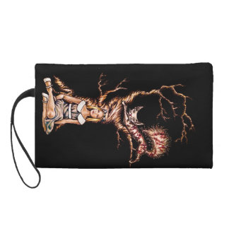 Alice in Wonderland with Cheshire Cat Drawing Wristlet
