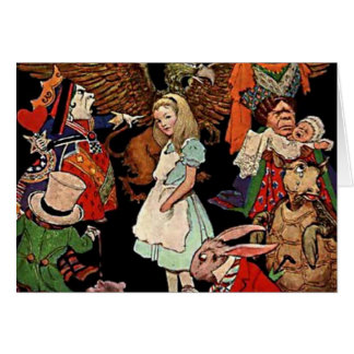 Alice in Wonderland with Friends Illustration Card