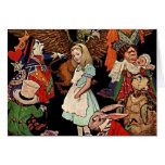 Alice in Wonderland with Friends Illustration Stationery Note Card