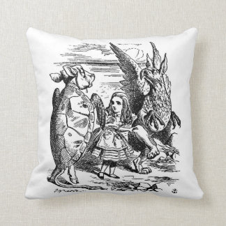 Alice in Wonderland with the Mock Turtle Throw Pillow
