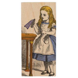 Alice in Wonderland Wood USB Flash Drive
