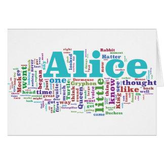 Alice in Wonderland Word Cloud Card
