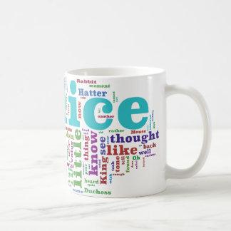 Alice in Wonderland Word Cloud Coffee Mug