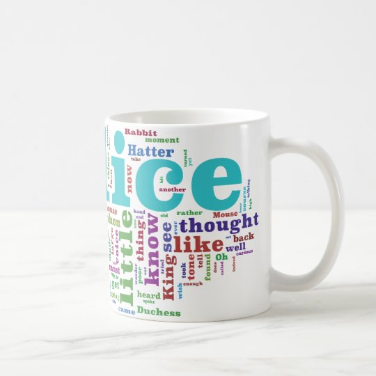 Alice in Wonderland Word Cloud Coffee Mug
