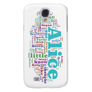 Alice in Wonderland Word Cloud Galaxy S4 Cover