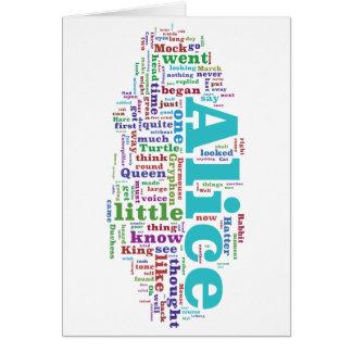 Alice in Wonderland Word Cloud Greeting Card