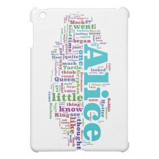 Alice in Wonderland Word Cloud iPad Mini Cases