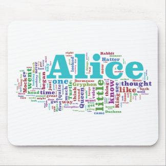 Alice in Wonderland Word Cloud Mouse Pad