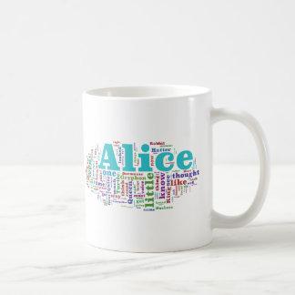 Alice in Wonderland Word Cloud Classic White Coffee Mug