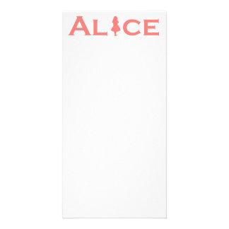 Alice in Wonderland Word Play Salmon Pink Card
