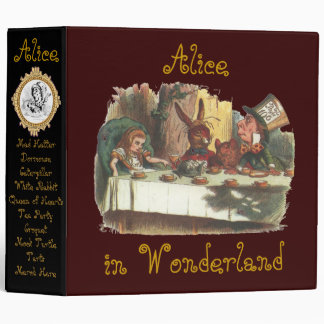 Alice in Wonderland Words on Back Spill Over Binder