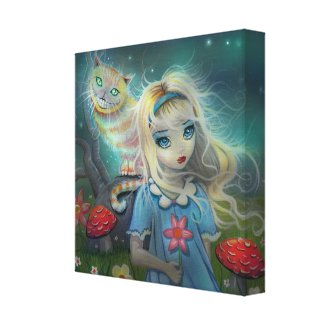 Alice in Wonderland Wrapped Canvas Print wrappedcanvas