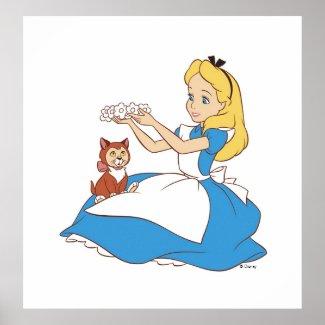 Alice in Wonderland's Alice and Dinah Disney zazzle_print