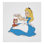 Alice in Wonderland's Alice and Dinah Disney Poster