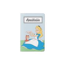 Alice in Wonderland's Alice and Dinah - Name Pocket Moleskine Notebook