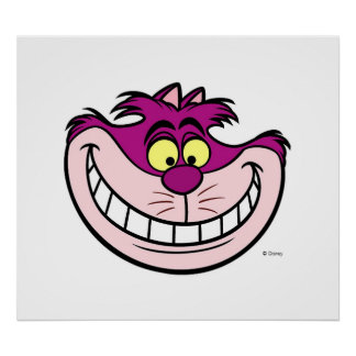 alice in wonderlands cheshire cat disney poster - Cheshire Cat Smile Coloring Pages