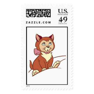 Alice in Wonderland's Dinah Disney Stamp