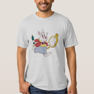 Alice in Wonderland's White Rabbit Running Disney Shirt