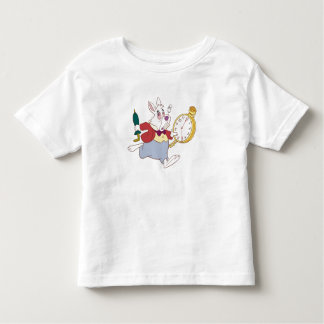 Alice in Wonderland's White Rabbit Running Disney Toddler T-shirt