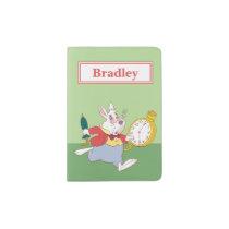 Alice in Wonderland's White Rabbit Running - Name Passport Holder