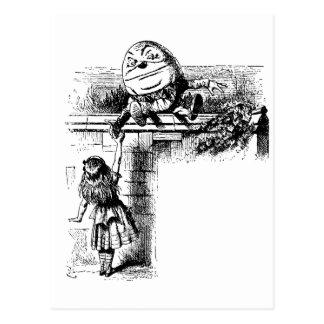 Alice in Wondlerand, Humpty Dumpty with Alice Postcard