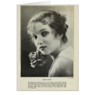 Alice Joyce 1917 vintage portrait card