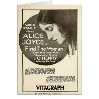 Alice Joyce 1918 silent movie exhibitor ad O.Henry Card