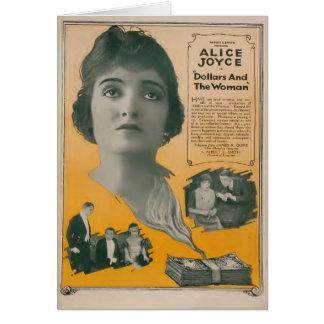 Alice Joyce 1920 silent movie exhibitor ad Card