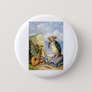 ALICE LISTENED INTENTLY AS THE GRIFFIN SPOKE PINBACK BUTTON