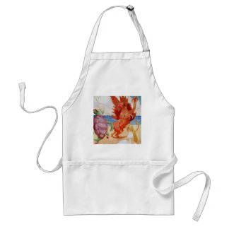 Alice Listens to the Griffin and the Mock Turtle Adult Apron