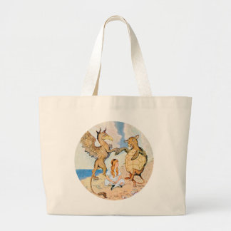 Alice Listens to the Griffin and the Mock Turtle Tote Bag