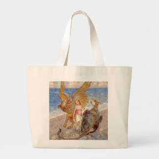 Alice Listens to the Griffin and the Mock Turtle Canvas Bags