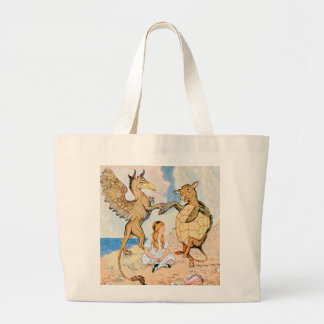 Alice Listens to the Griffin and the Mock Turtle Tote Bags