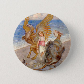 Alice Listens to the Griffin and the Mock Turtle Pinback Button