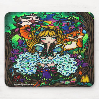 """""""Alice Lost"""" Alice in Wonderland Cheshire Cat Mousepads"""