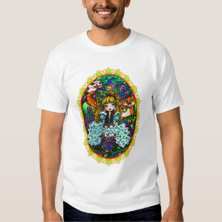 """Alice Lost"" Alice in Wonderland Cheshire Cat T Shirt"