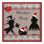 Alice, Mad Hatter & Cheshire Cat Christmas Party Card