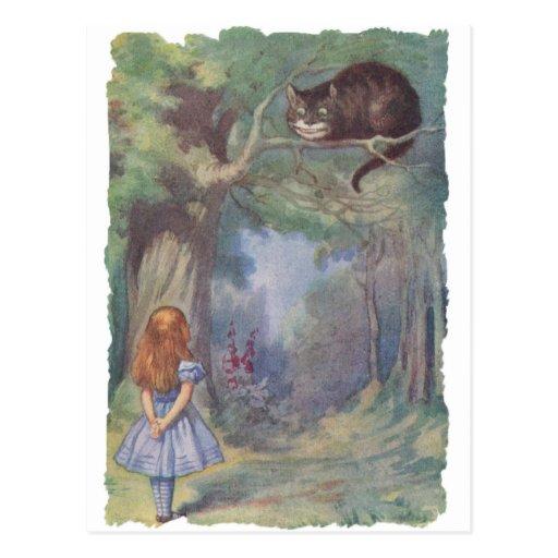 Alice meets Cheshire Cat Postcards