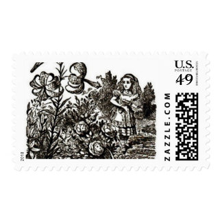 Alice meets flowers postage