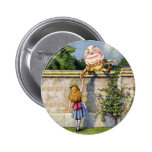 Alice Meets Humpty Dumpty in Wonderland 2 Inch Round Button