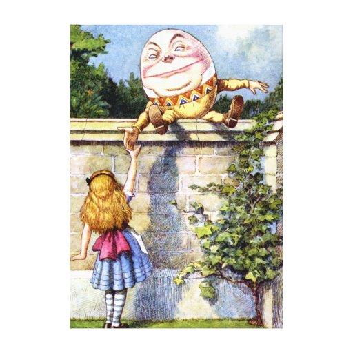 Alice Meets Humpty Dumpty in Wonderland Gallery Wrap Canvas