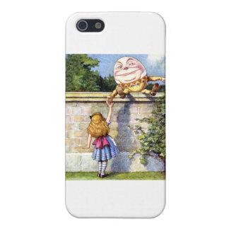 Alice Meets Humpty Dumpty in Wonderland iPhone 5 Cases