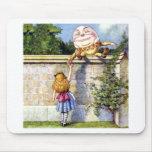 Alice Meets Humpty Dumpty in Wonderland Mouse Pad
