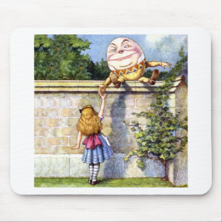 Alice Meets Humpty Dumpty in Wonderland Mouse Pad