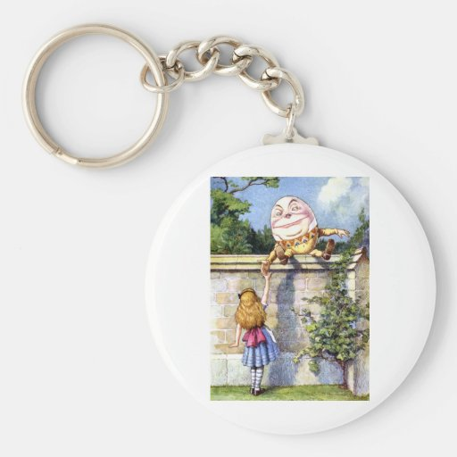 ALICE MEETS HUMPTY DUMPTY KEYCHAINS